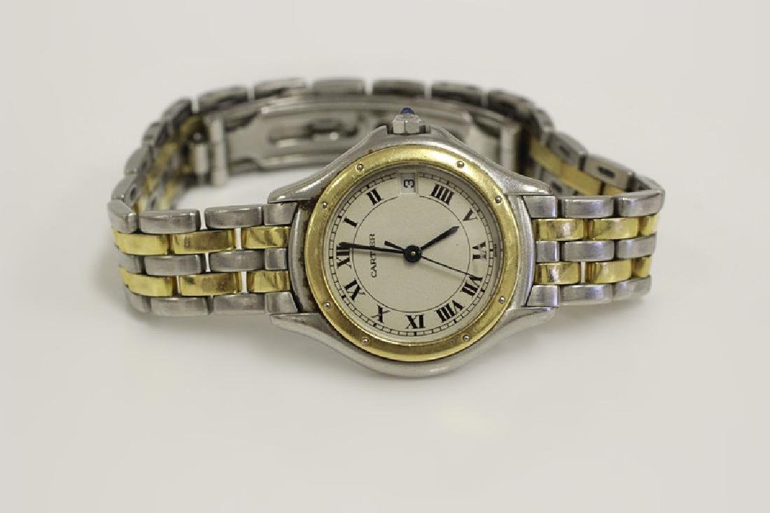 Cartier Ladies Panthere Cougar S/S & Gold Watch - 7