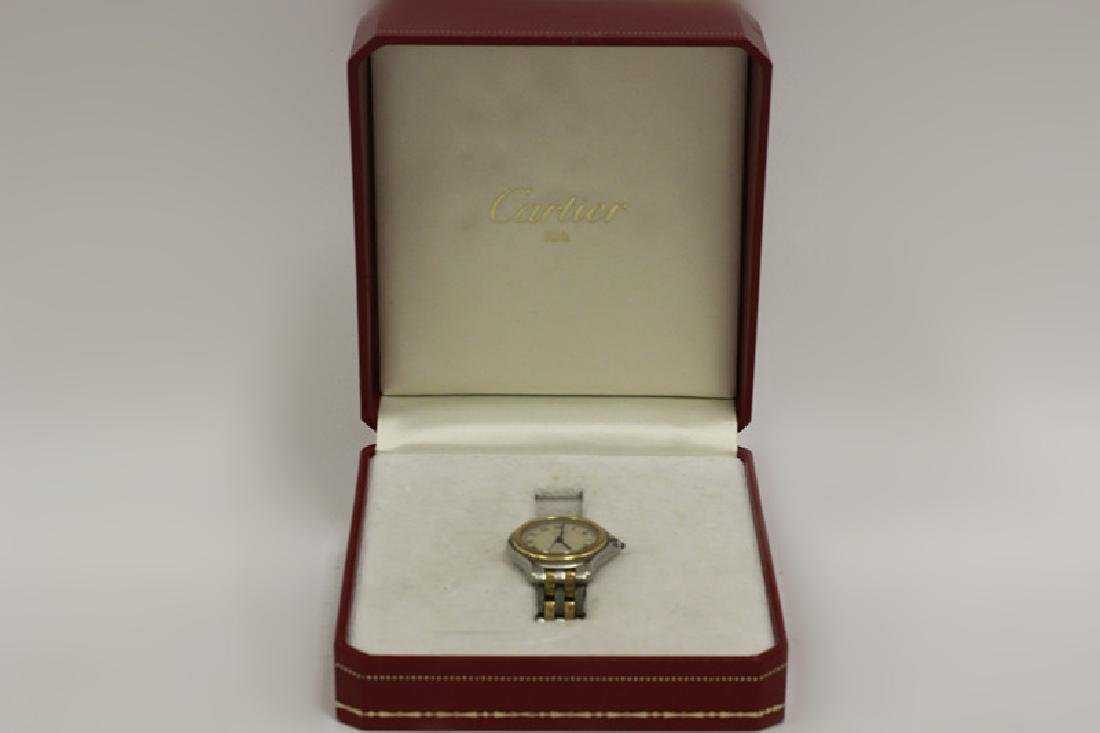 Cartier Ladies Panthere Cougar S/S & Gold Watch - 9