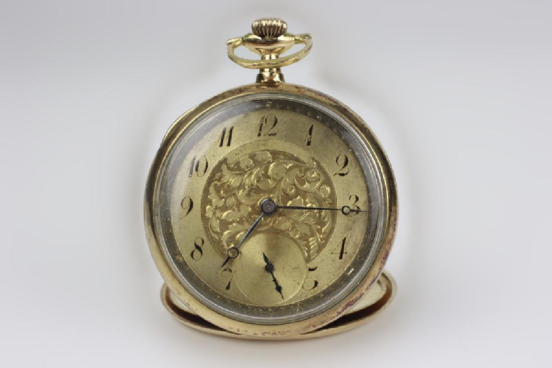 14k Gold Gruen Large Pocket Watch