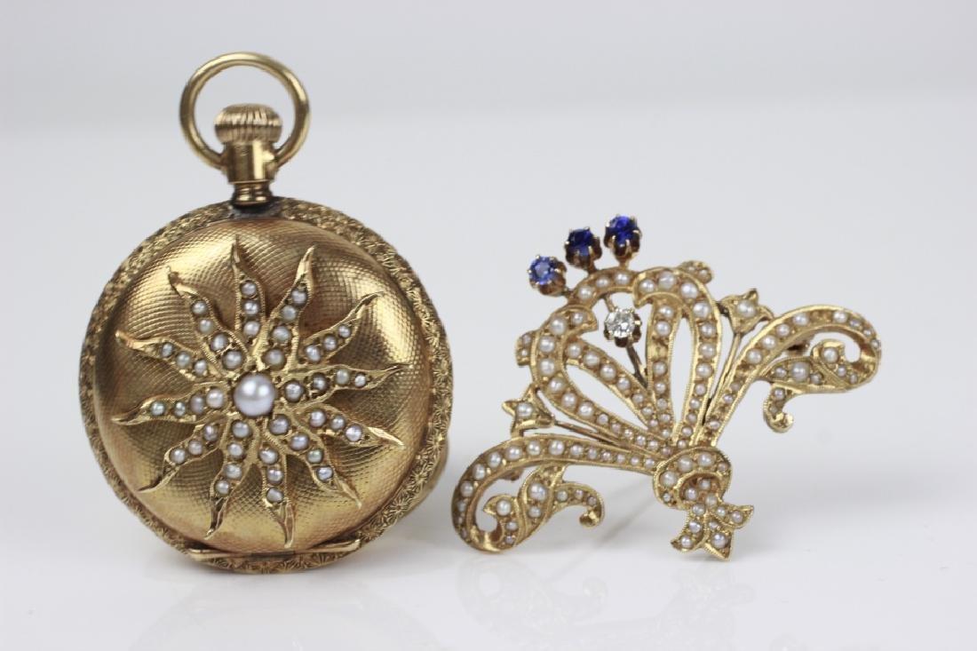 Elgin Women's 14k Gold Pocket Watch