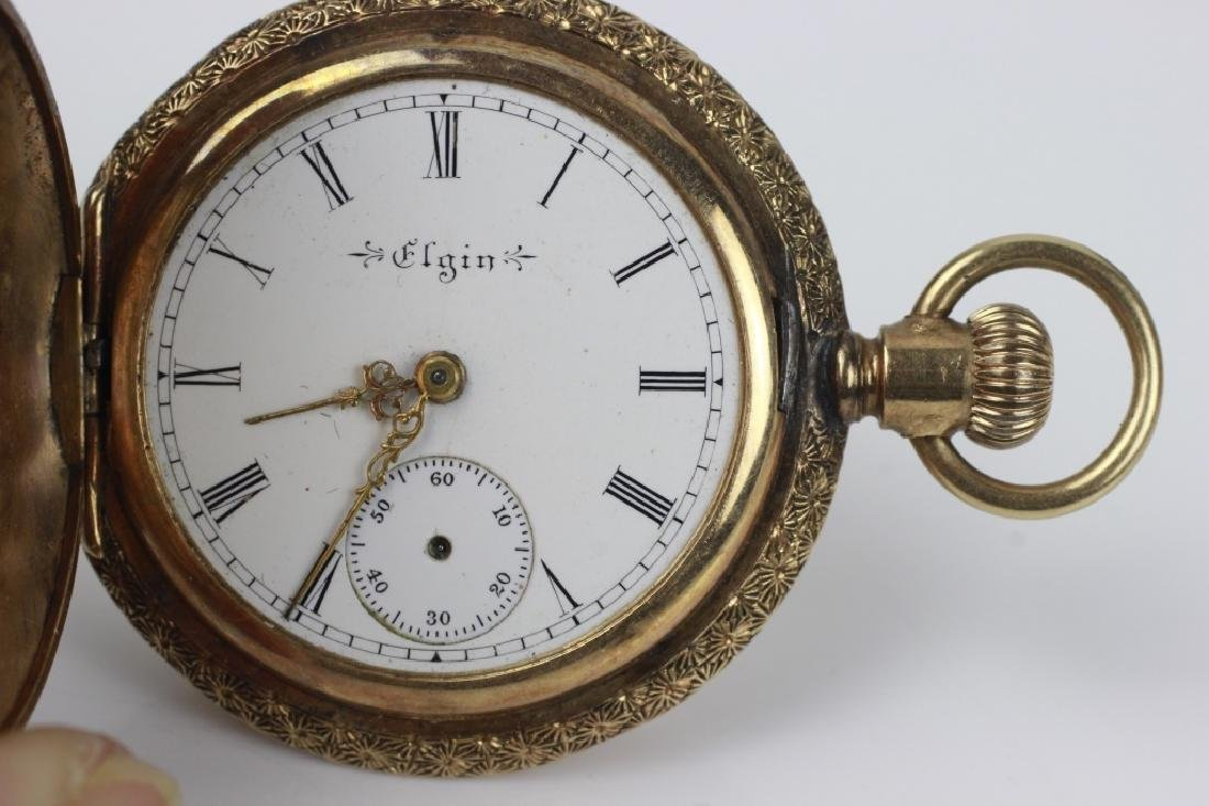 Elgin Women's 14k Gold Pocket Watch - 8