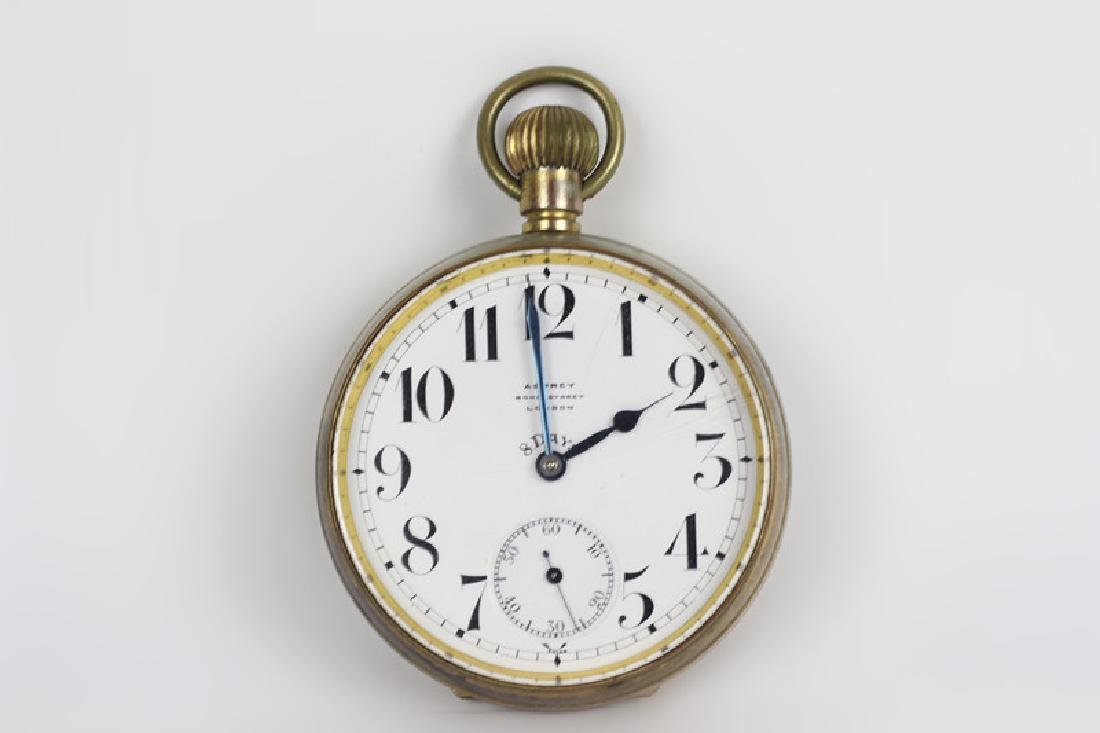 Asprey Large Rail Road Pocket Watch