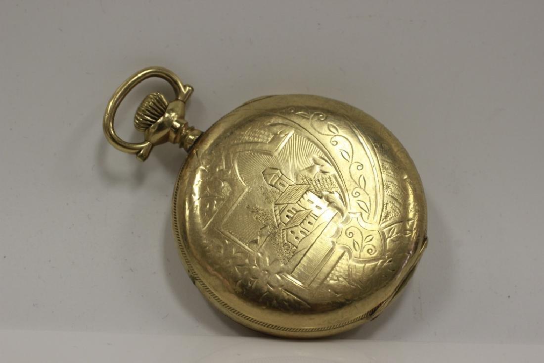 Hamden Pocket Watch, Engraved, 17 Jewel - 10