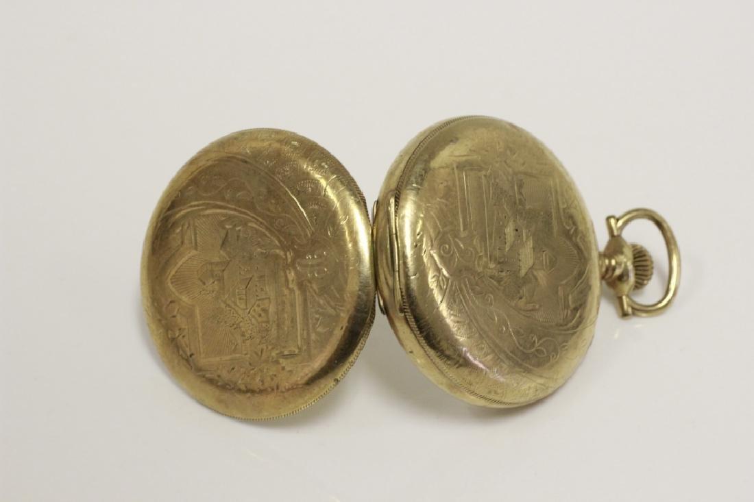 Hamden Pocket Watch, Engraved, 17 Jewel - 2