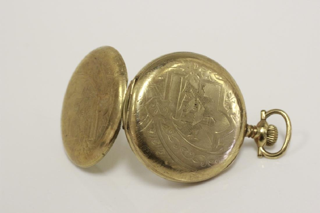 Hamden Pocket Watch, Engraved, 17 Jewel - 3