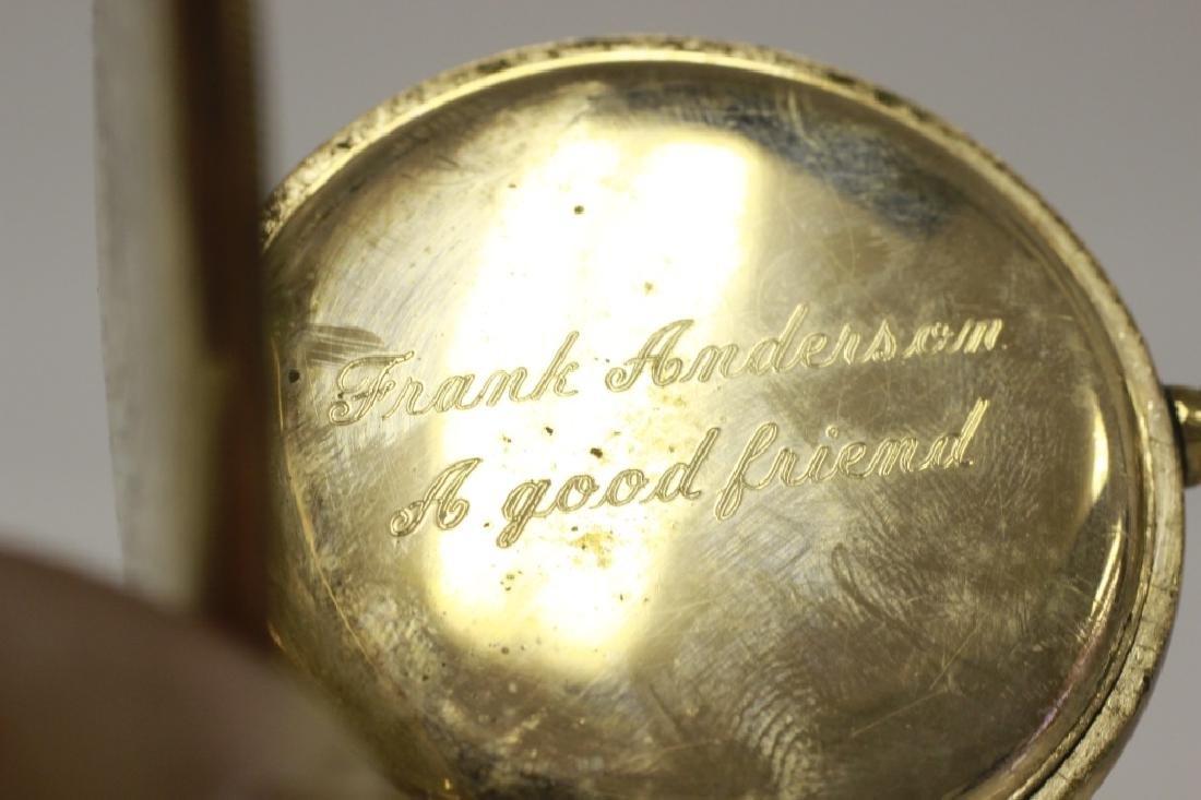 Hamden Pocket Watch, Engraved, 17 Jewel - 8