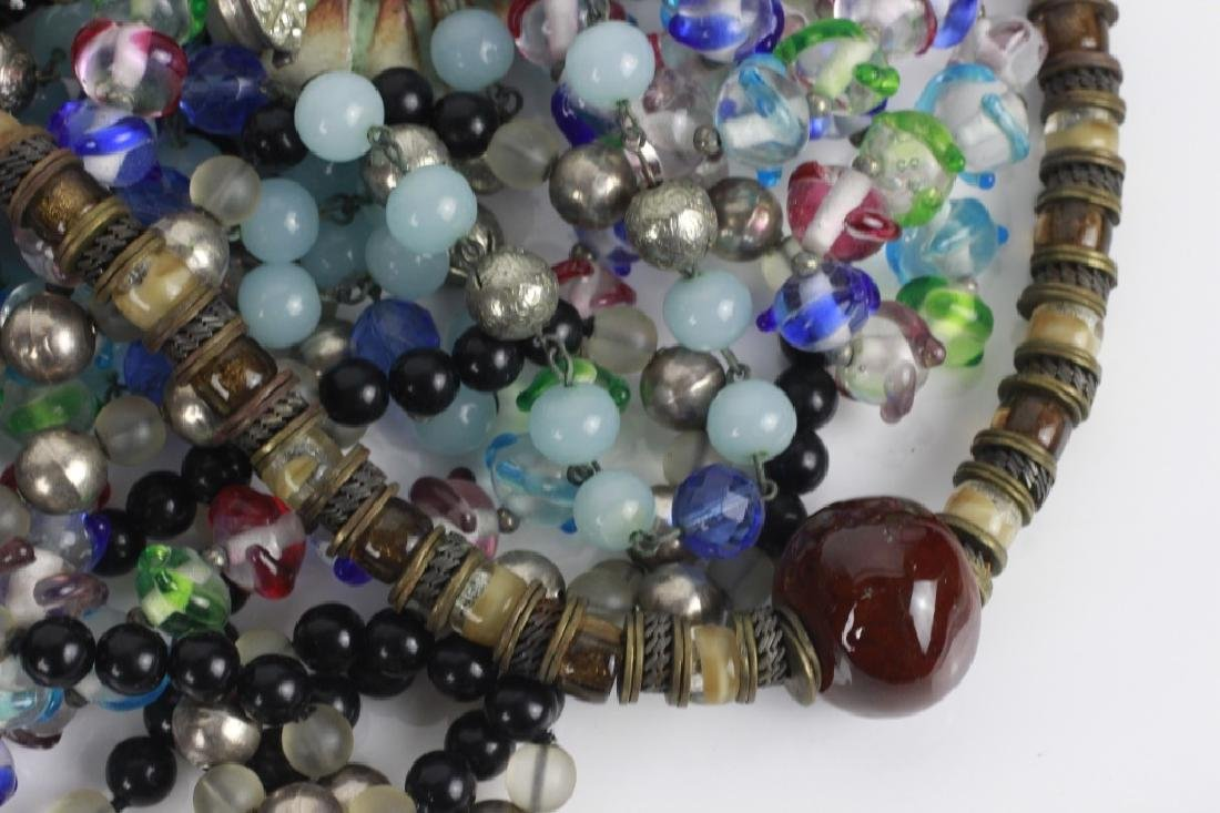 Lot of Beaded Costume Necklaces - 3