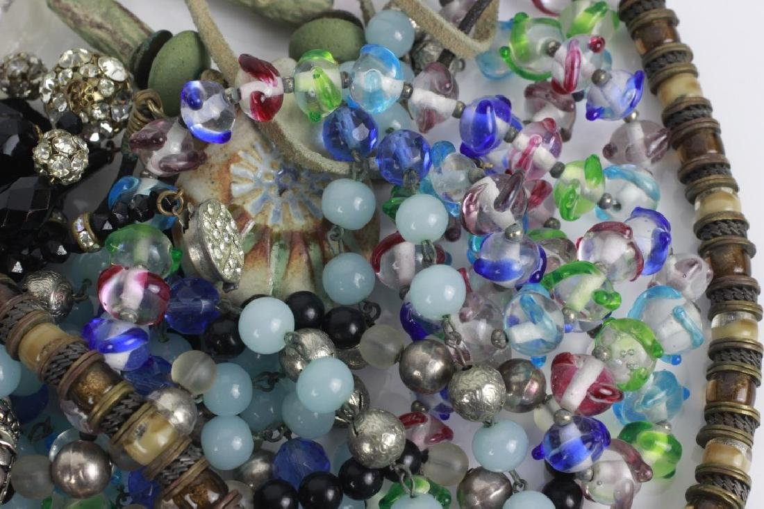 Lot of Beaded Costume Necklaces - 4