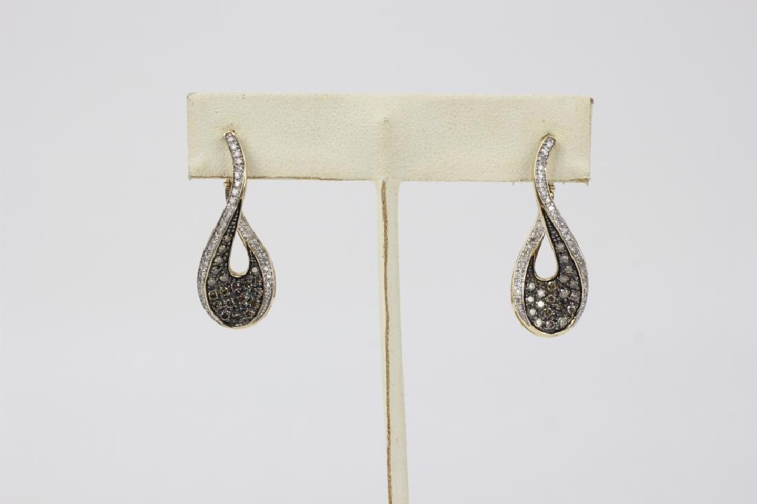 Pair of 14k Gold & Diamond Earrings