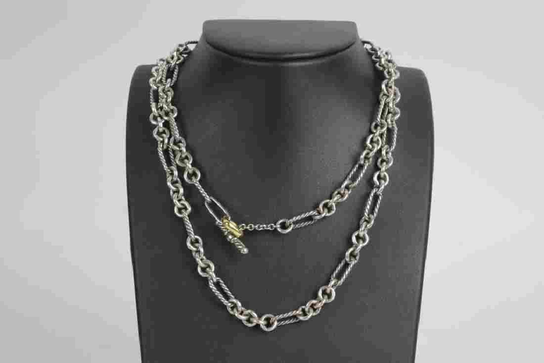 "David Yurman 32"" 18k Gold & Sterling Necklace"