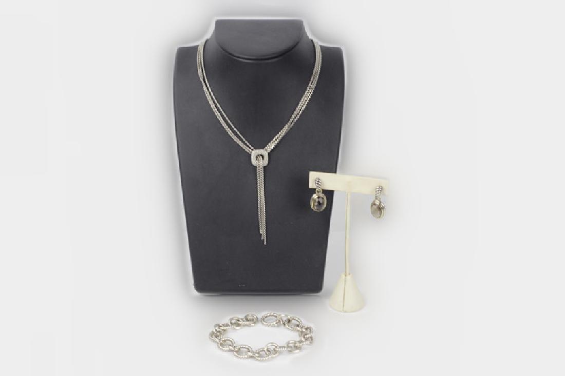 David Yurman 3pc Lot of Sterling Jewelry