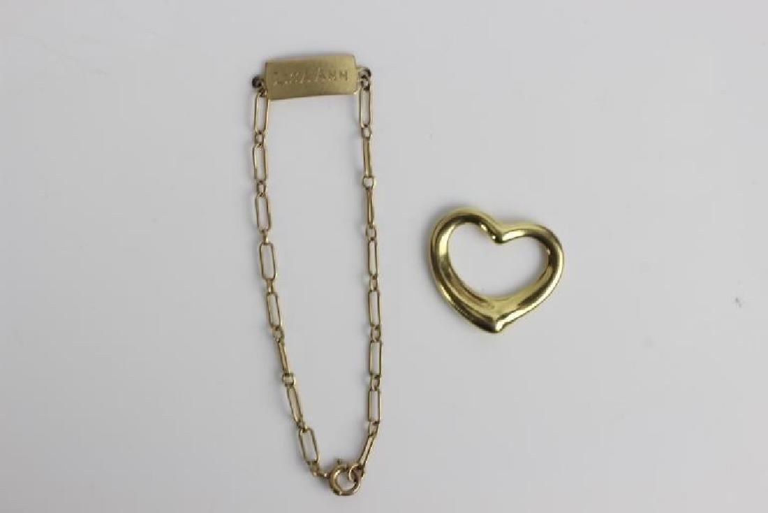 2 Tiffany & Co. Gold Items, One is Elsa Peretti
