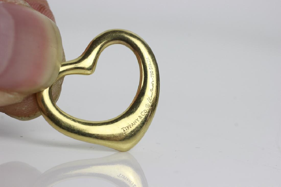 2 Tiffany & Co. Gold Items, One is Elsa Peretti - 5