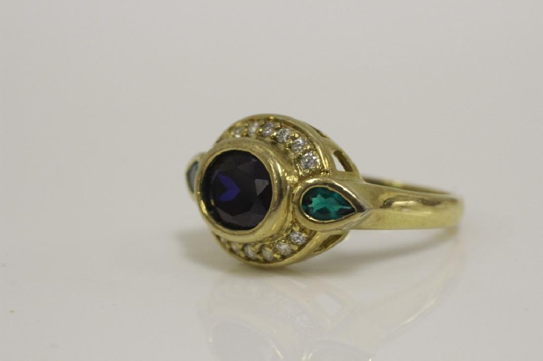 10 Sterling Silver & Various Stone Rings - 9