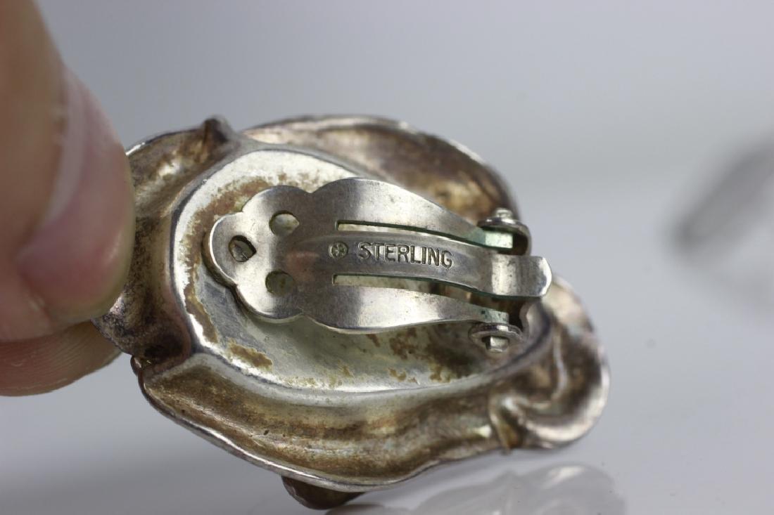 16pc Group Lot of Sterling Silver & Enamel Jewelry - 10