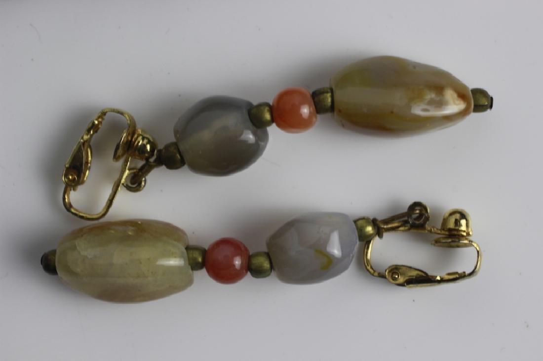 7pc Group Lot of Hardstone Necklaces & Earrings - 2