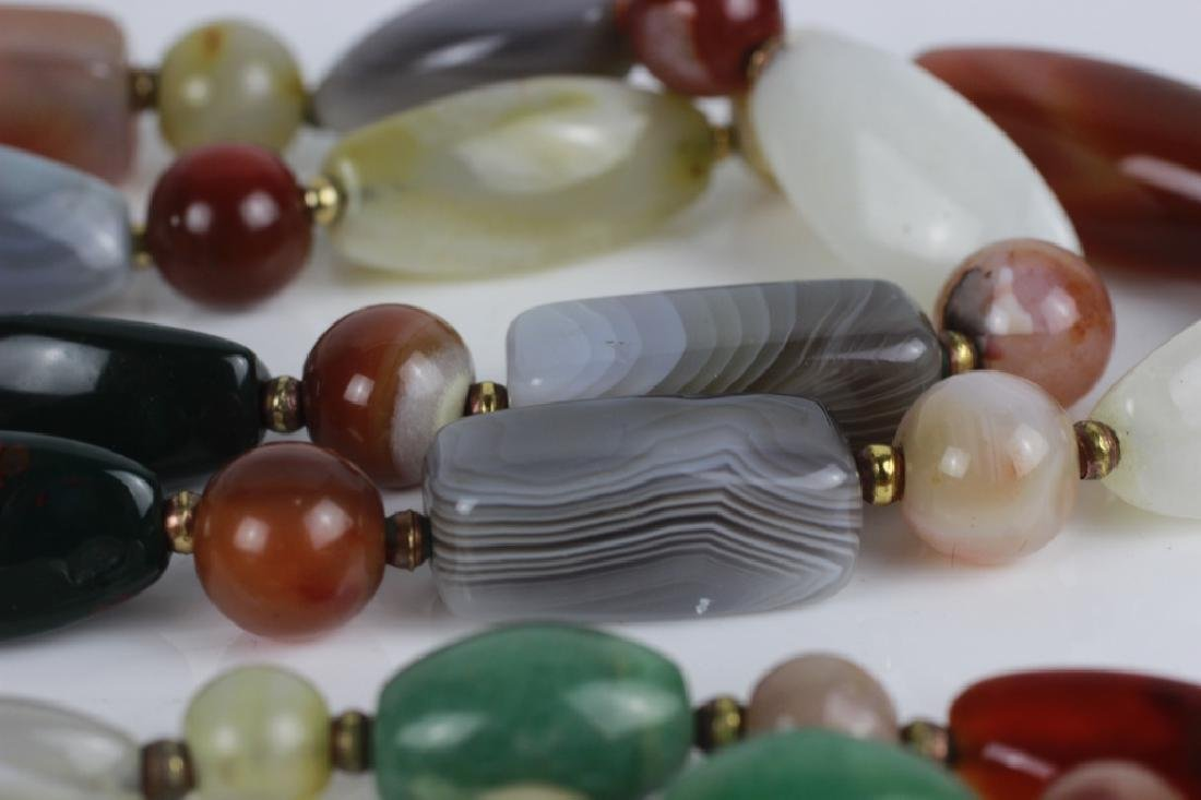 7pc Group Lot of Hardstone Necklaces & Earrings - 7