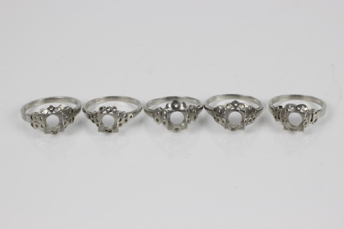 5 Platinum Ring Settings