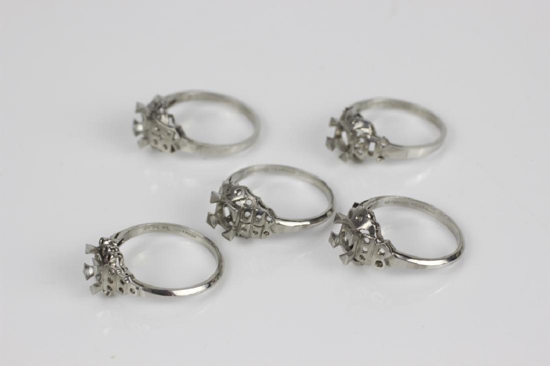 5 Platinum Ring Settings - 3