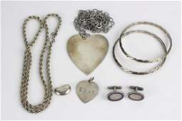 Group Lot of Tiffany  Cartier Silver Jewelry