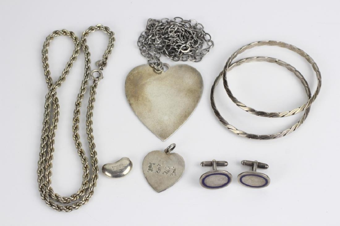 Group Lot of Tiffany & Cartier Silver Jewelry