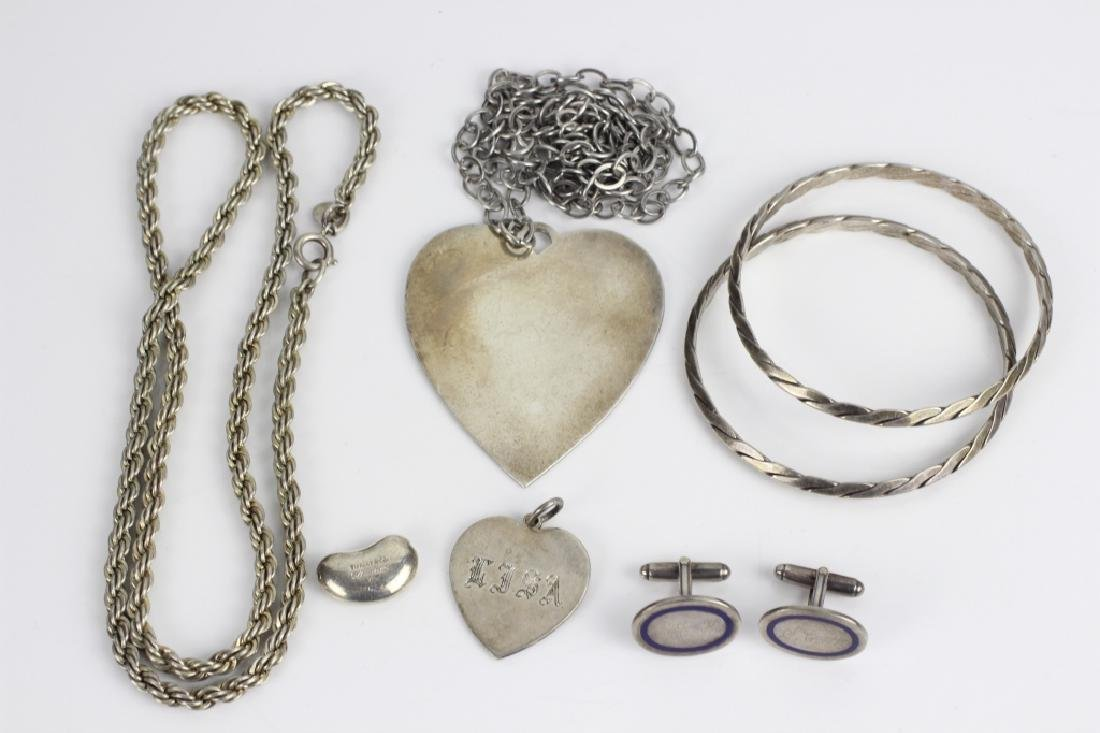 Group Lot of Tiffany & Cartier Silver Jewelry - 9