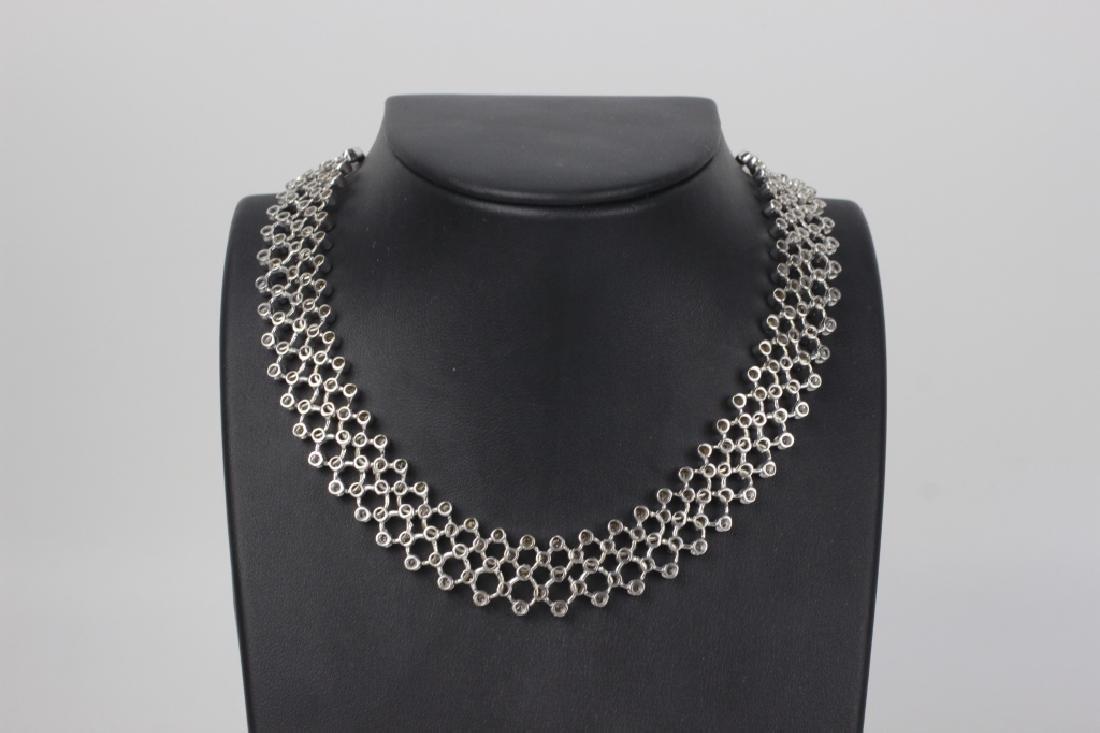 18k White Gold Necklace & 6ctw Total Diamonds
