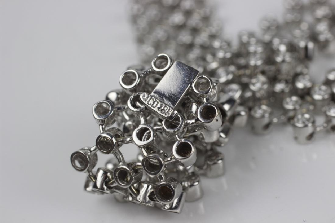 18k White Gold Necklace & 6ctw Total Diamonds - 5