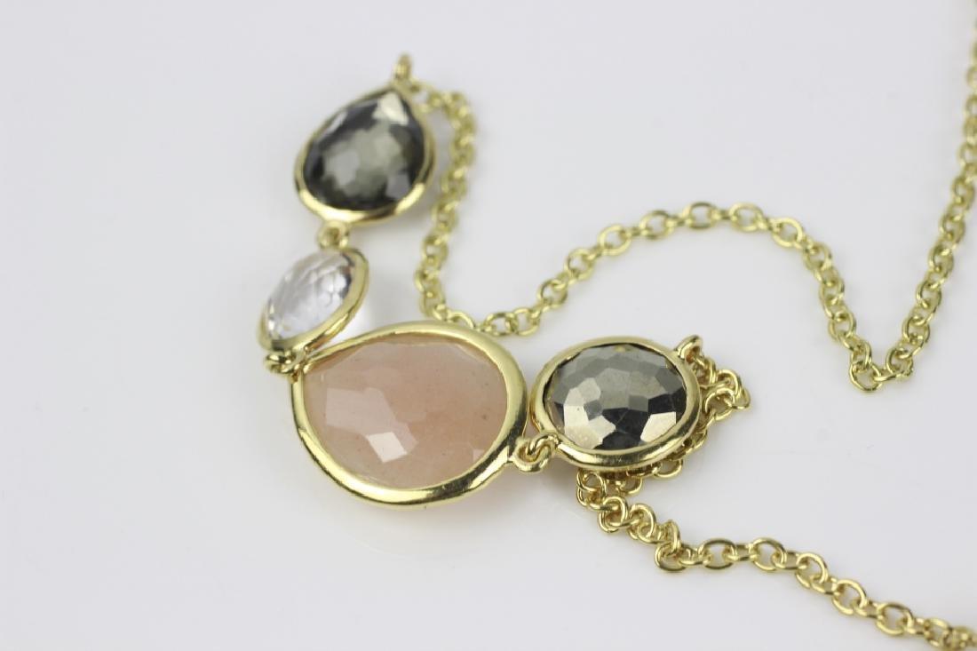 18k Gold Ippolita Long Chain w/ Precious Stones - 6