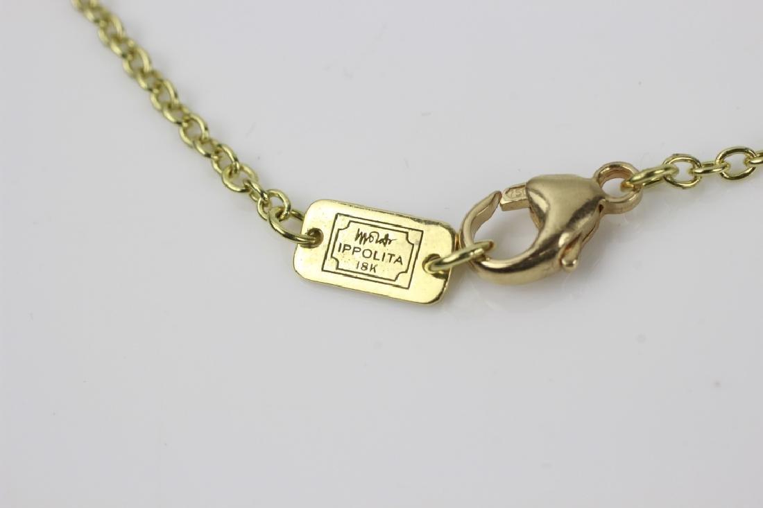 18k Gold Ippolita Long Chain w/ Precious Stones - 7