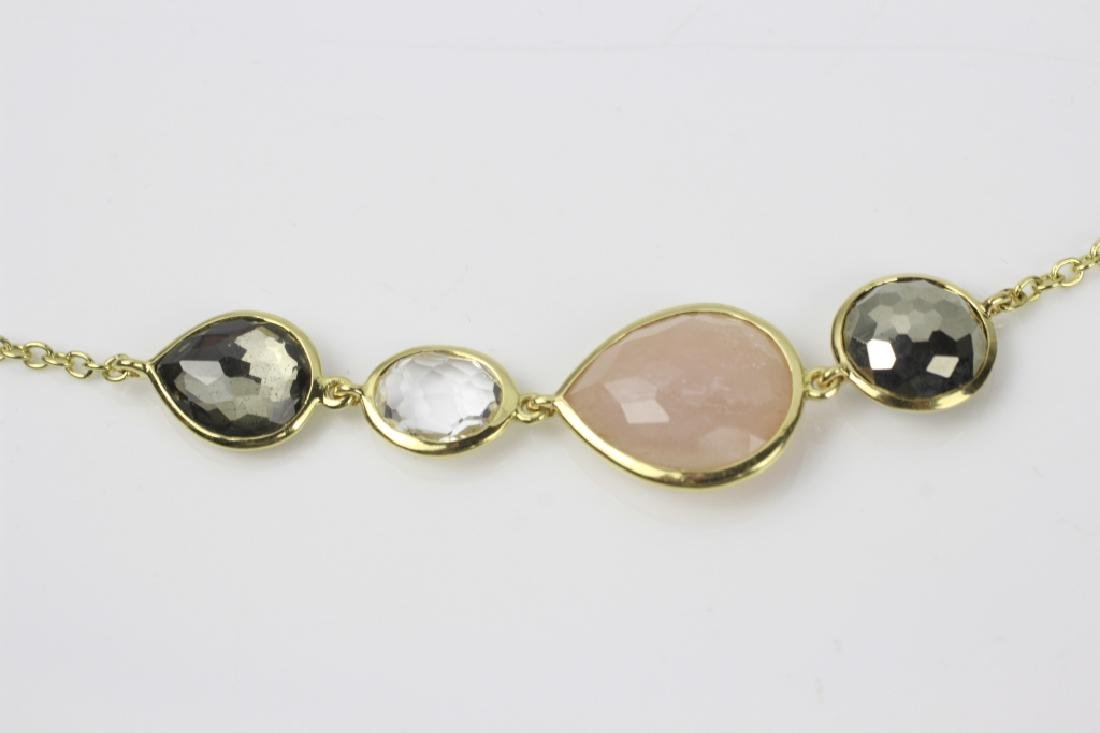 18k Gold Ippolita Long Chain w/ Precious Stones - 8