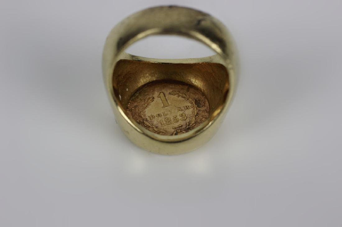 22k Gold American Coin in 14k Gold Ring - 3