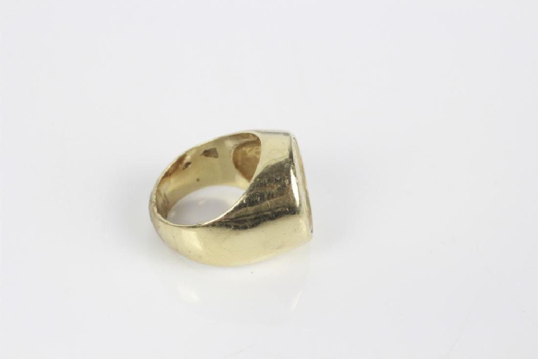 22k Gold American Coin in 14k Gold Ring - 4