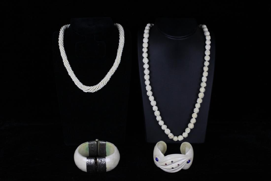 4pc Lot of Bone Jewelry