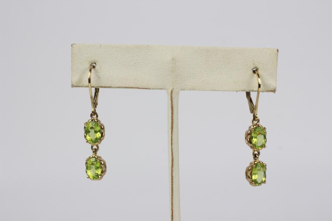 12 Pair of Sterling Silver Earrings w/ Various Sto - 7
