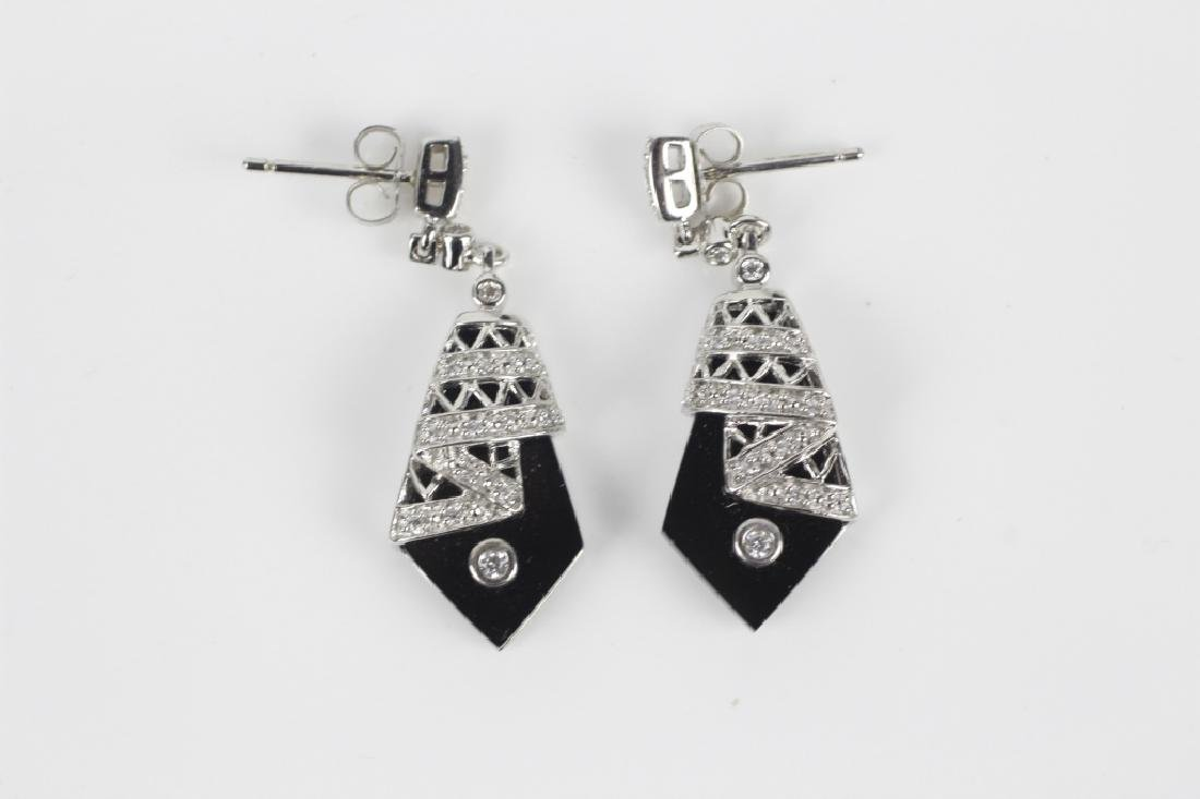 12 Pair of Sterling Silver Earrings w/ Various Sto - 9