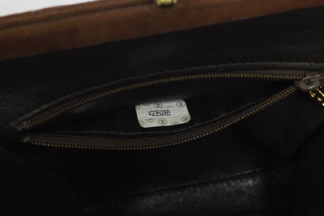 Chanel Authentic Brown Suede Bag - 7