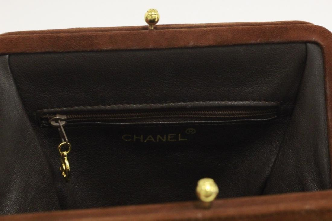 Chanel Authentic Brown Suede Bag - 8