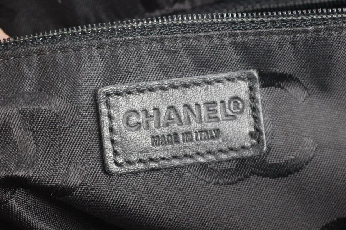 Chanel Authentic Navy Bag w/ White Stitching - 8