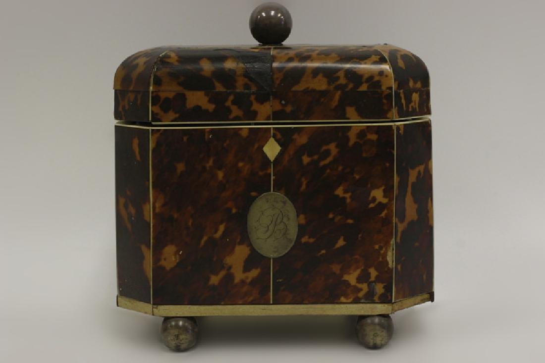 19thc English Tea Caddy