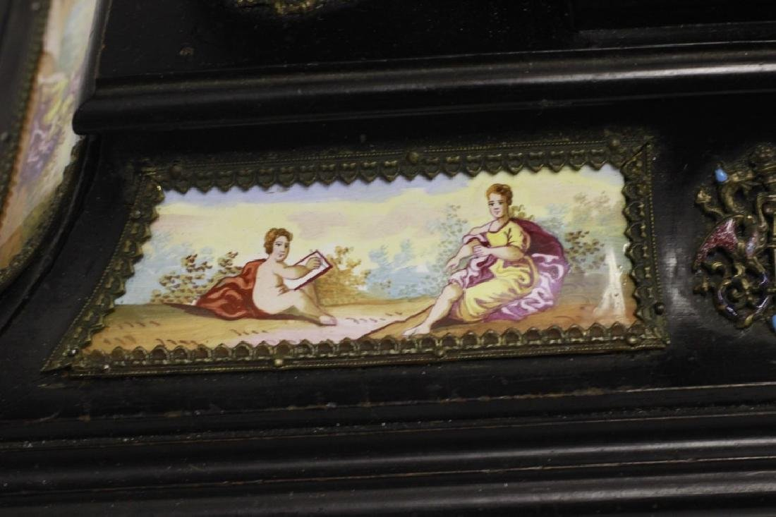 Rare 19thc Viennese Enameled Fitted Table Cabinet - 10