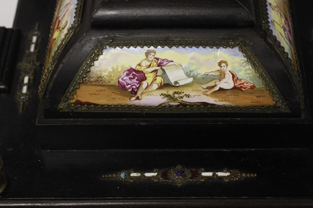 Rare 19thc Viennese Enameled Fitted Table Cabinet - 6
