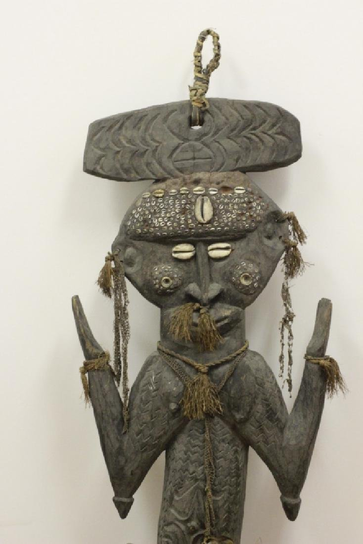 Very Large African Wood Sculpture w/VariousElement - 2