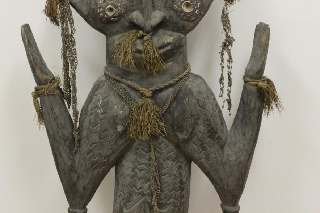 Very Large African Wood Sculpture w/VariousElement - 3