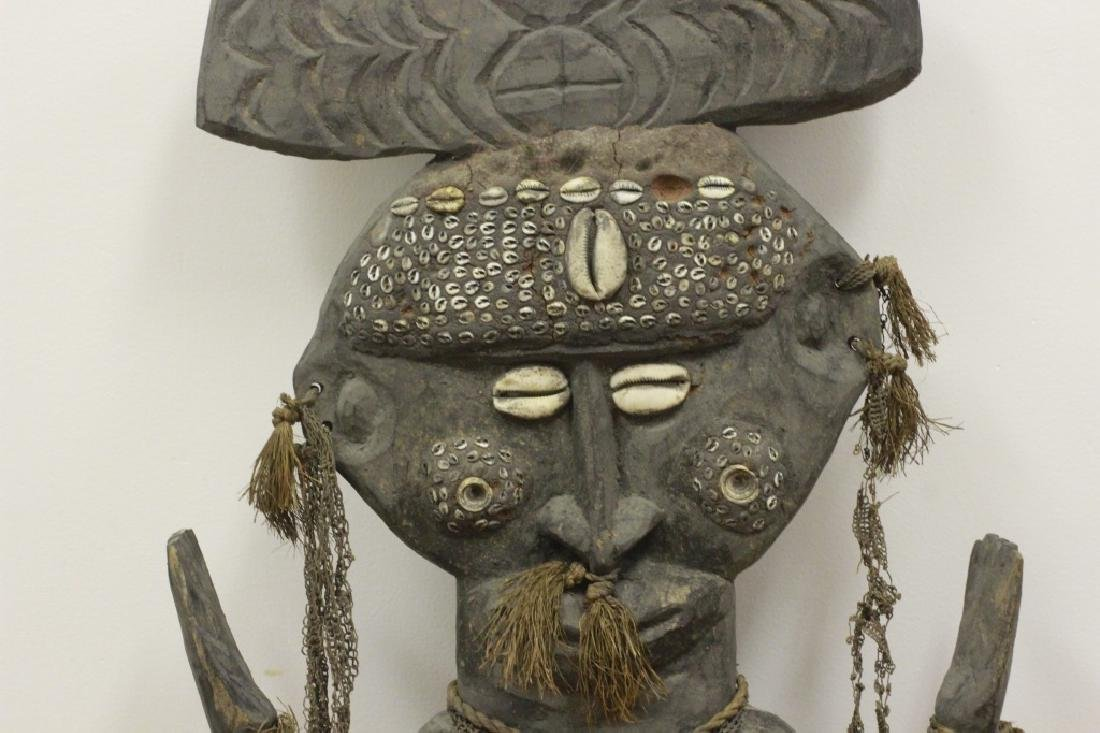 Very Large African Wood Sculpture w/VariousElement - 4