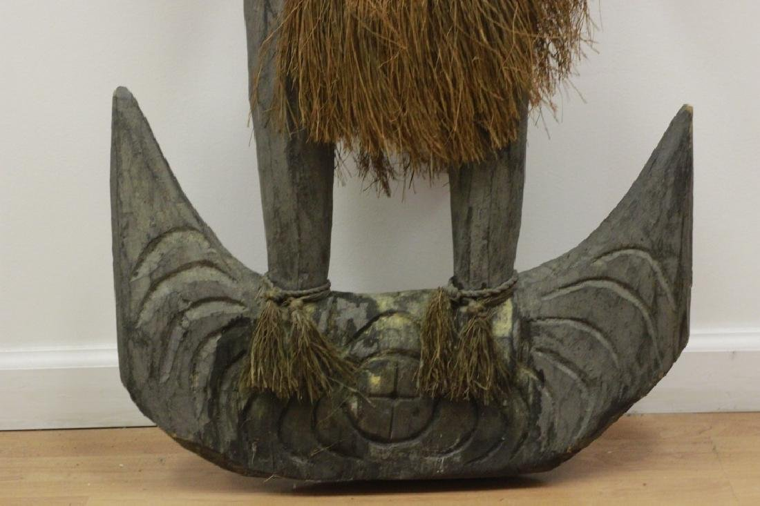 Very Large African Wood Sculpture w/VariousElement - 7