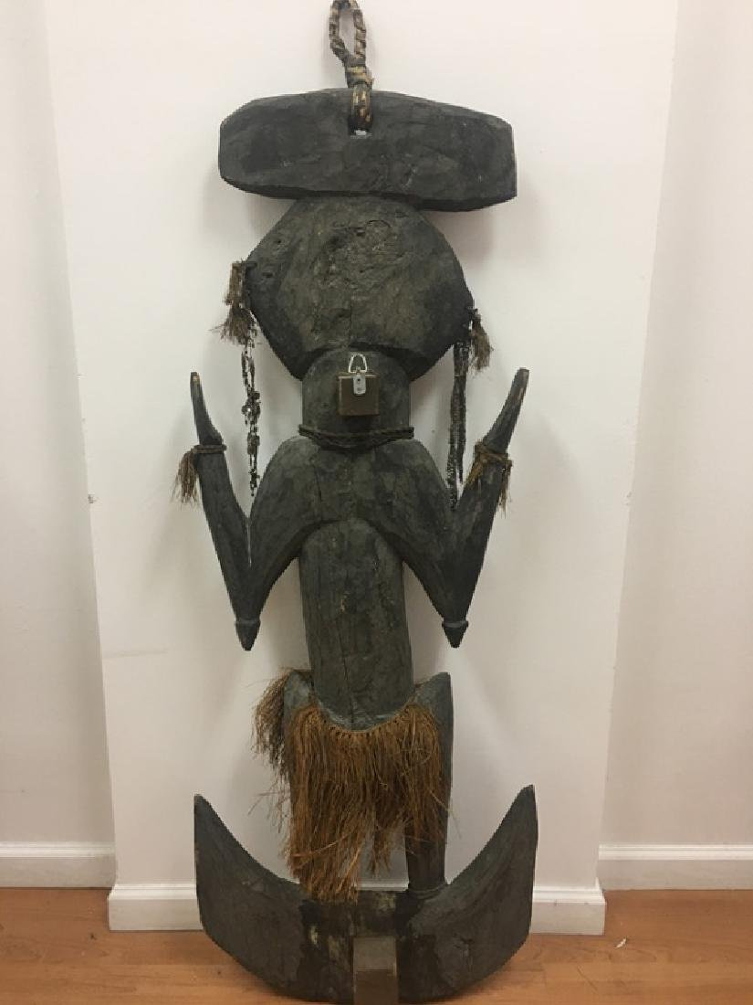 Very Large African Wood Sculpture w/VariousElement - 8
