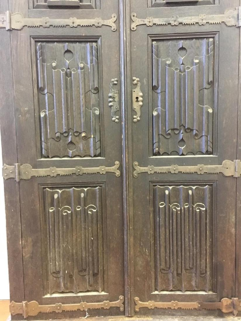 Very Old Large German Carved Wood Armoire - 7