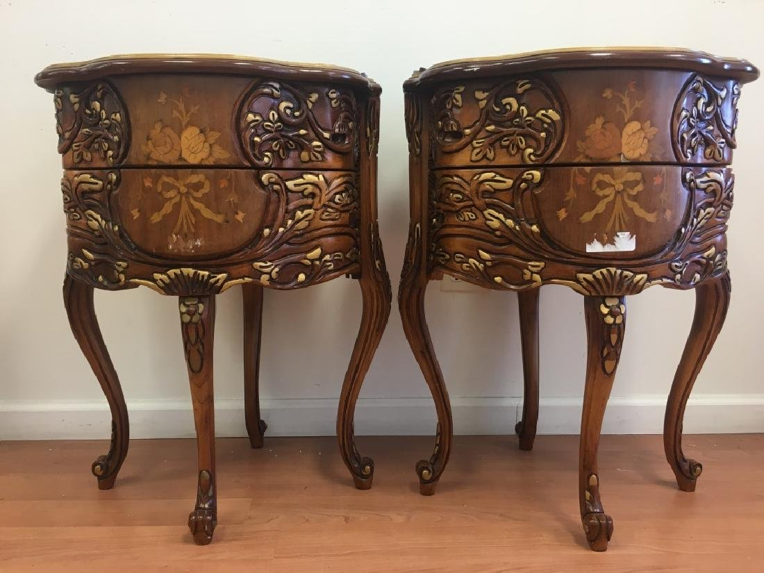 Pair of Parquetry Night Stands - 2