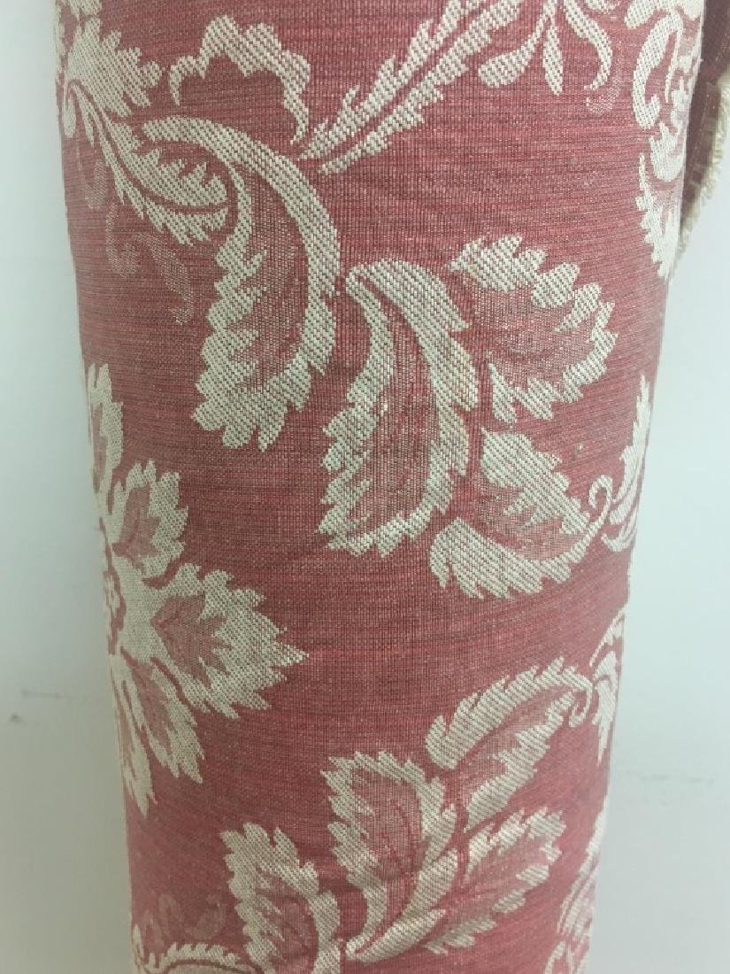 Two Tone Cotton & Polyester Damask Floral Fabric - 2